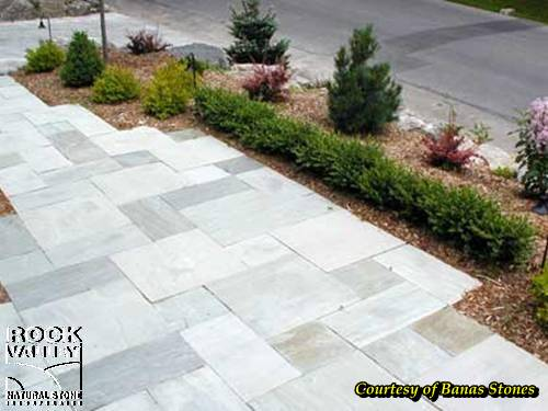 Indus Valley Dove Grey Square Cut Flagstone