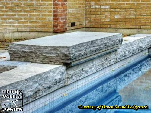 Erosan Sandblasted Natural Stone Steps