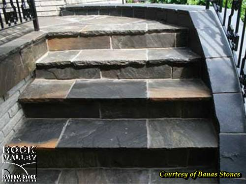 Indus Valley Imperial Black Square Cut Flagstone